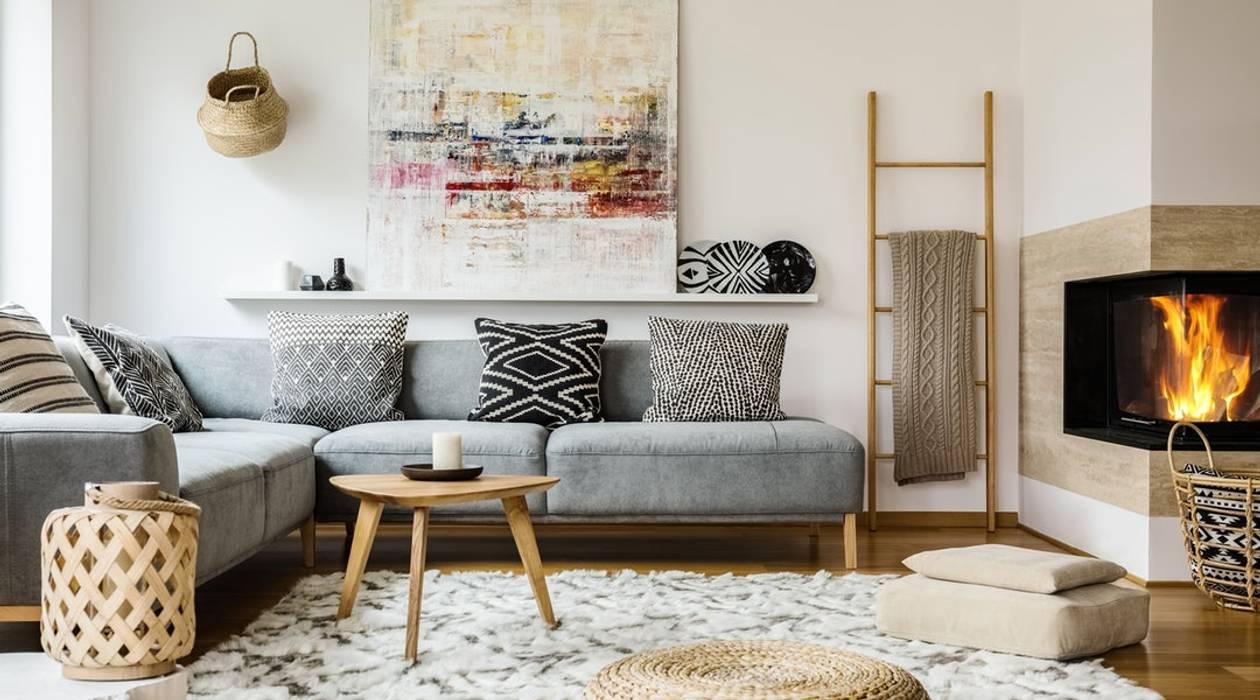 Ethnic Chic Salas multimedia de estilo moderno de Tullpu Diseño & Arquitectura Moderno