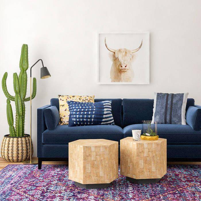 Color y naturaleza Livings de estilo moderno de Tullpu Diseño & Arquitectura Moderno