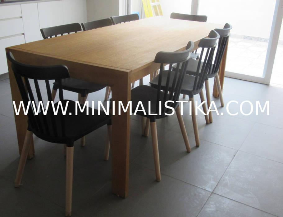 Casas de Playa Minimalista y Mediterráneo - Comedor Minimalistika.com Comedores Madera maciza Acabado en madera