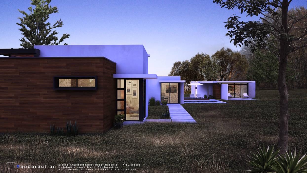 Casas estilo moderno: ideas, arquitectura e imágenes de Renderaction Moderno