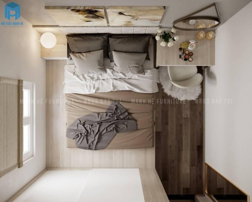 Góc nhìn tổng thể của phòng ngủ master sang trọng, đẳng cấp bởi Công ty TNHH Nội Thất Mạnh Hệ Hiện đại