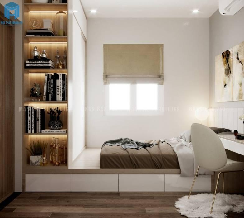 Nội thất phòng ngủ master sang trọng bởi Công ty TNHH Nội Thất Mạnh Hệ Hiện đại