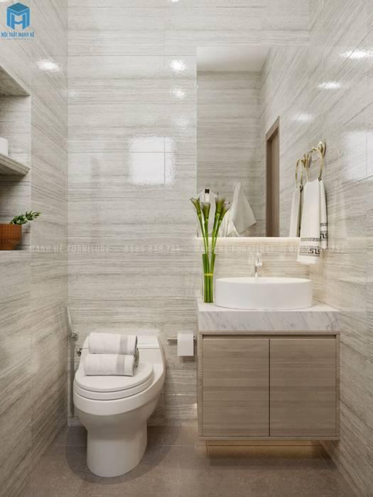 Gạch ốp tường nhà vệ sinh hiện đại Phòng tắm phong cách hiện đại bởi Công ty TNHH Nội Thất Mạnh Hệ Hiện đại