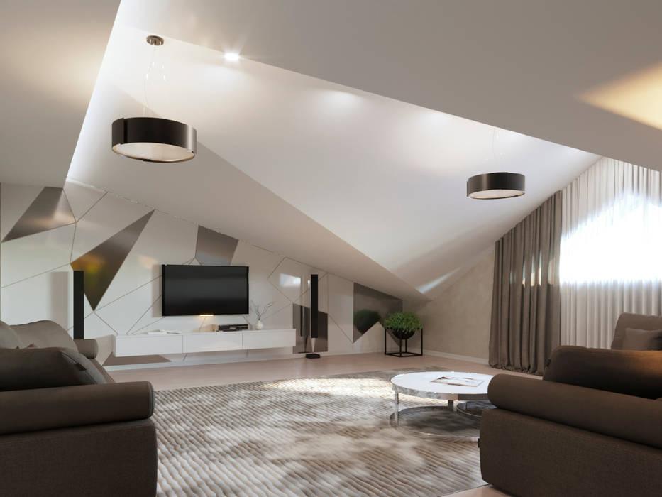 Дизайн-проект частного дома. Гостиная в стиле минимализм от Дизайн-бюро 'ДА!' Минимализм