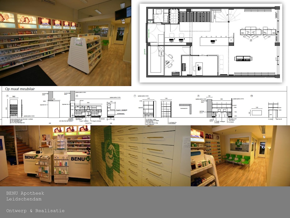 Interieurontwerp apotheek Moderne gezondheidscentra van THIES Design Modern