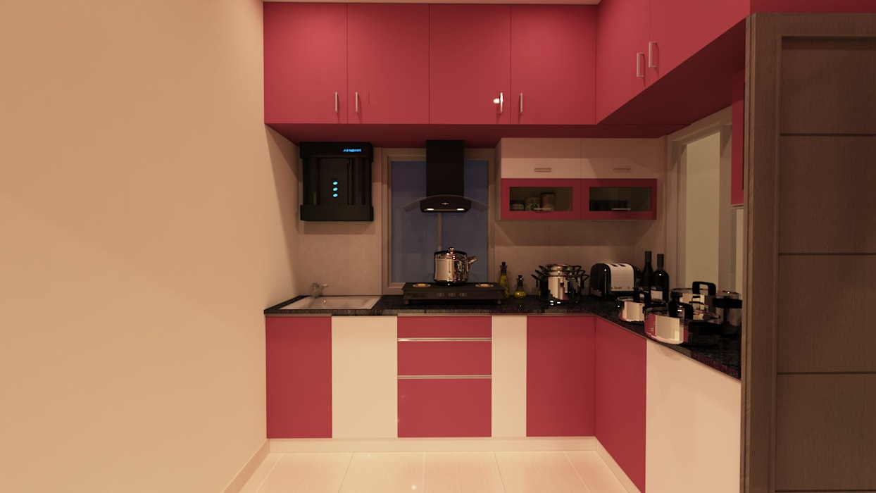 Kitchen Asian style kitchen by SD Interiors & Modulars Asian