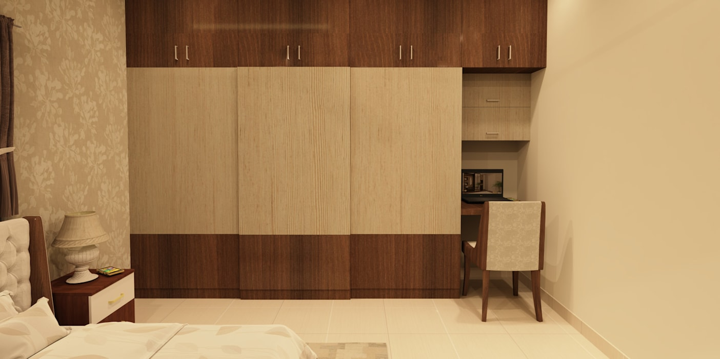 Chambre asiatique par SD Interiors & Modulars Asiatique
