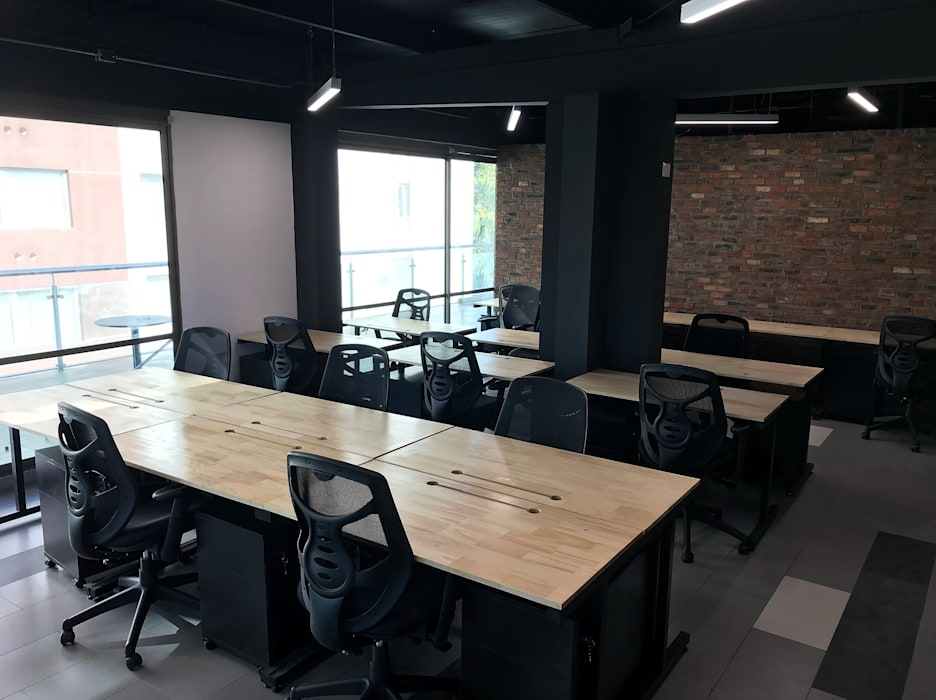 Entorno Estudios Office spaces & stores Metal Wood effect