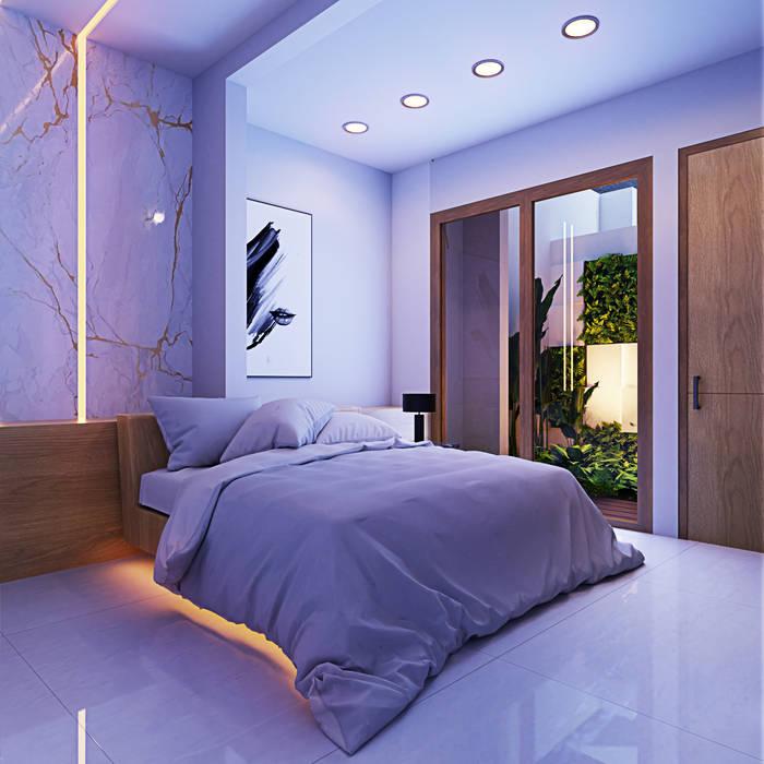 Kamar Oleh GUBAH RUANG studio Modern Batu Bata