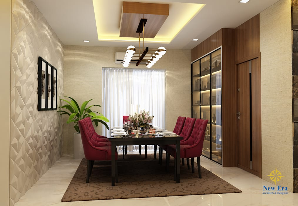 4 BHK apartment Classic style dining room by New Era Architects & Construction Classic