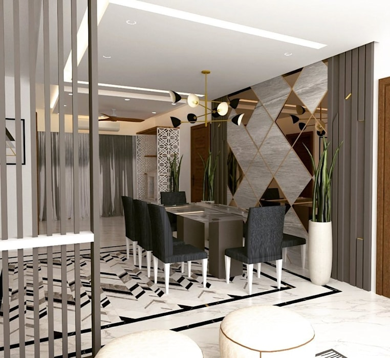 Interiors at Palam Vihar | Gurgaon Classic style dining room by Studio Square Design Co. Classic