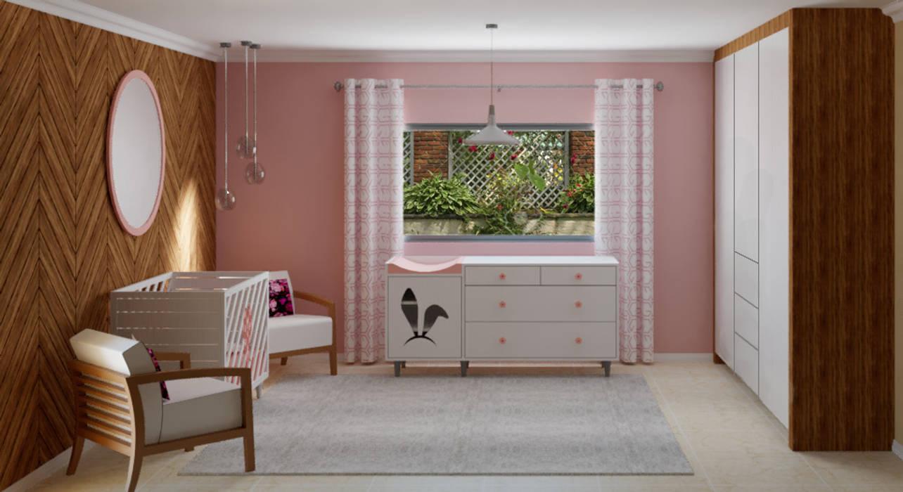 Baby room Modern style bedroom by Designs by Meraki Modern MDF