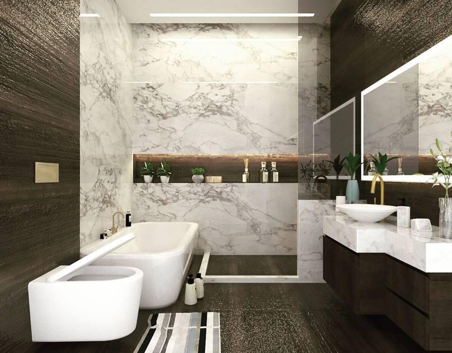 Modern Bathroom by Studio Square Design Co. Modern