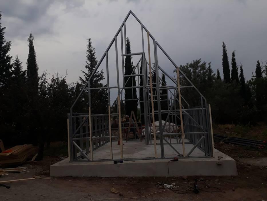 Hafif çelik taşıyıcı sistem ASK MİMARLIK İNŞAAT Kırsal Evler Demir/Çelik Gri
