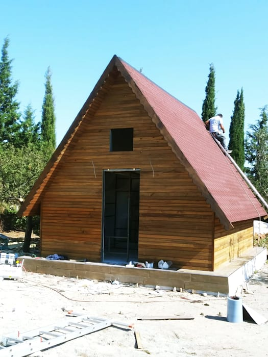 ASK MİMARLIK İNŞAAT Rumah Gaya Country Kayu Wood effect