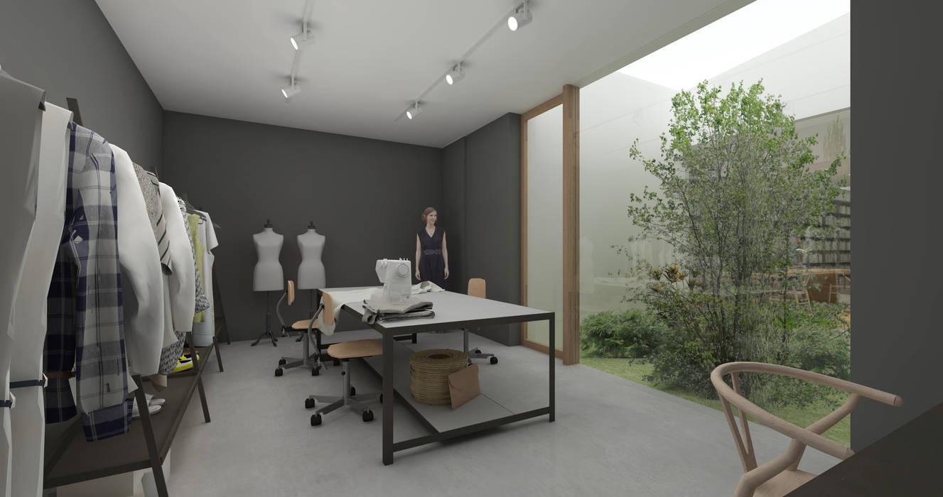 香花園の家 モダンデザインの 書斎 の NOMA/桑原淳司建築設計事務所 モダン