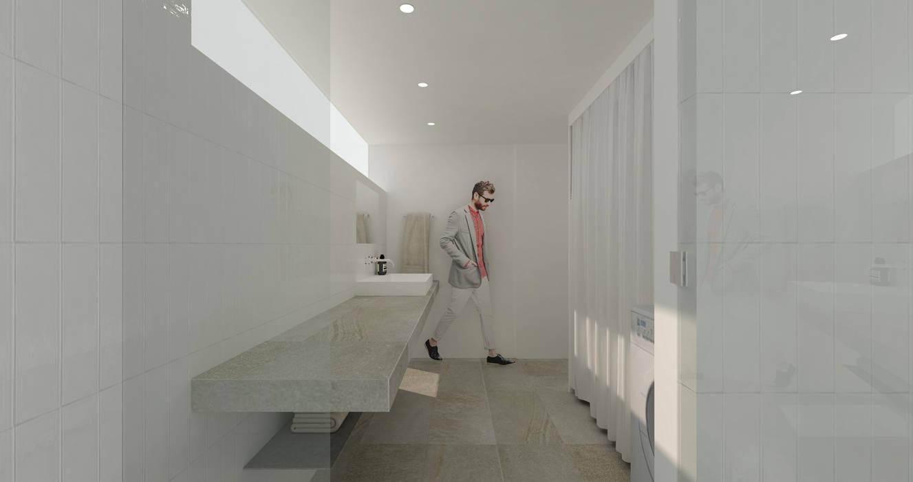 Modern bathroom by NOMA/桑原淳司建築設計事務所 Modern