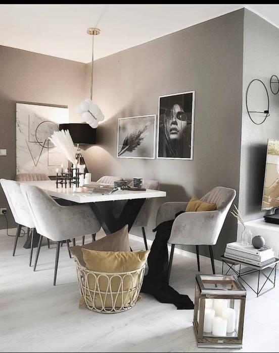 Décoration de salon a manger Salle à manger scandinave par Rania Interior Designer Scandinave