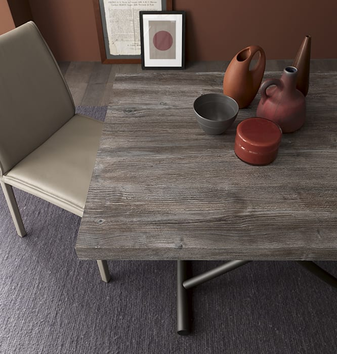 Ruang Keluarga Modern Oleh Mobili a Colori Modern Kayu Buatan Transparent