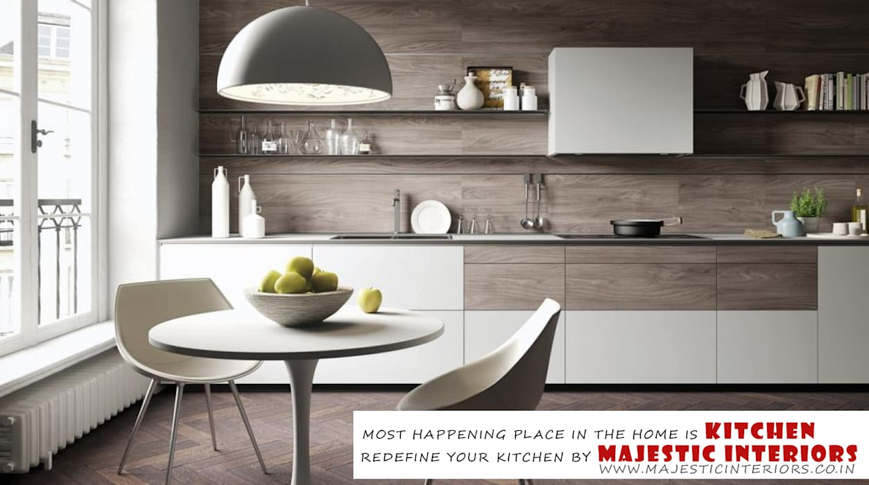 MODULAR KITCHEN IN FARIDABAD, LATEST KITCHEN DESIGNS, FARIDABAD, BEST INTERIOR DESIGNERS IN FARIDABAD by MAJESTIC INTERIORS Asian Wood-Plastic Composite