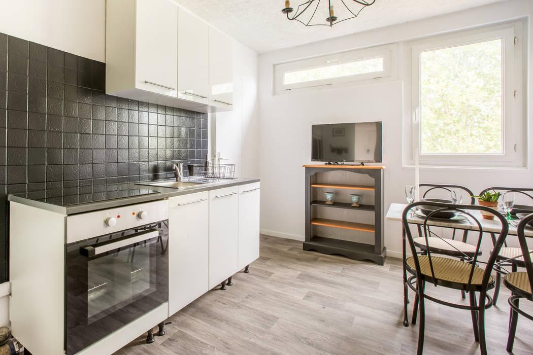 appartement étudiant Cuisine industrielle par Elahe-Deco Industriel