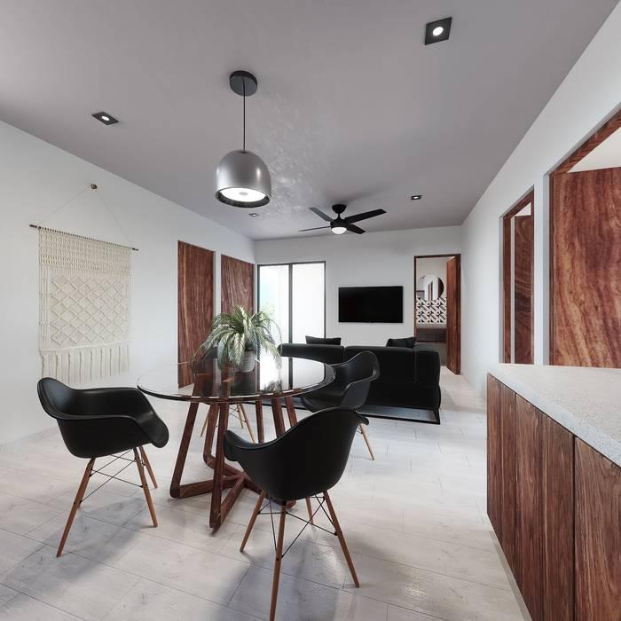 Living 1 Salones de estilo tropical de Taller Veinte Tropical