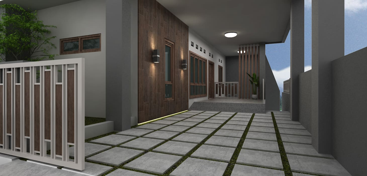 Exterior Balkon, Beranda & Teras Modern Oleh unimony.id Modern