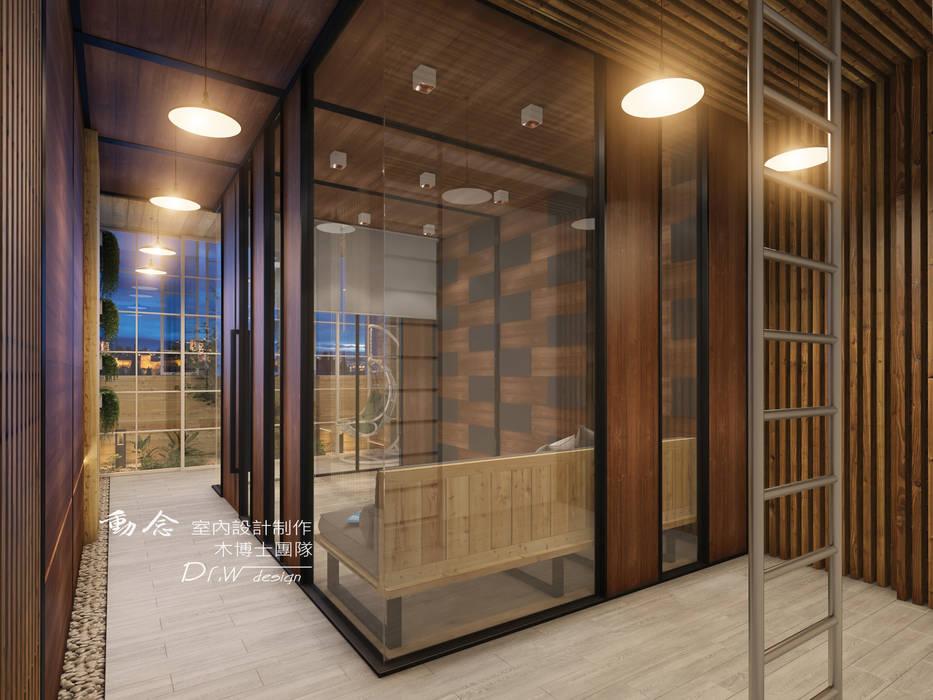 清玻隔間 根據 木博士團隊/動念室內設計制作 田園風