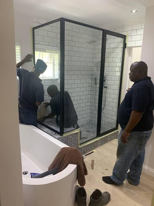Revamped master bathroom Modern bathroom by CS DESIGN Modern