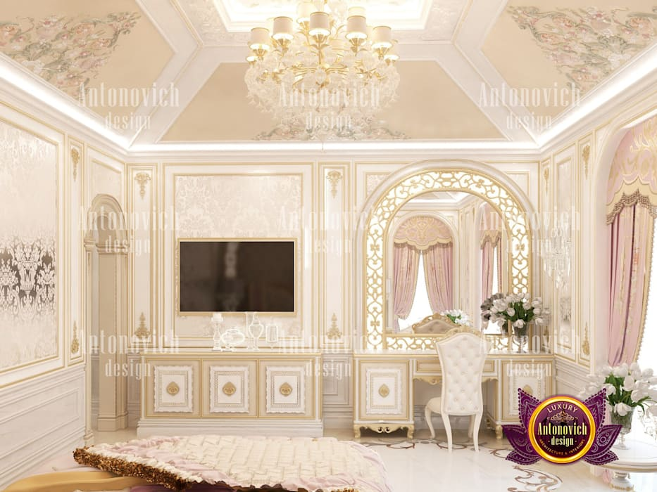 Best Bedroom Design Bahrain by Luxury Antonovich Design