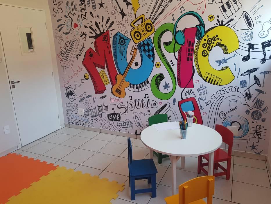 Bateras Beat Passos Escolas modernas por Ana Beatriz Coelho Arquitetura Moderno