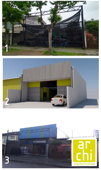 ARQUITECTO CHILLAN EIRL Commercial Spaces คอนกรีตเสริมแรง Metallic/Silver