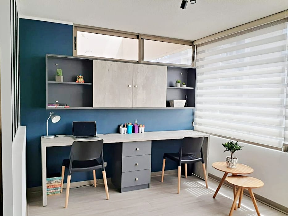 Sala de estar de Estudio Arquitectura y construccion PR/ Arquitectura, Construccion y Diseño de interiores / Santiago, Rancagua y Viña del mar Moderno