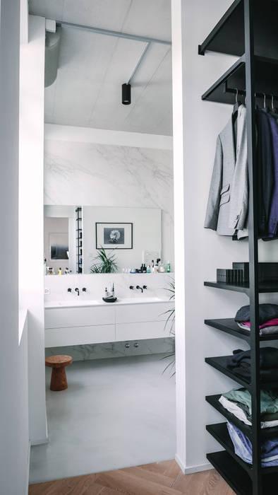 Loft Modern Bathroom by Anastasia Schuler Modern