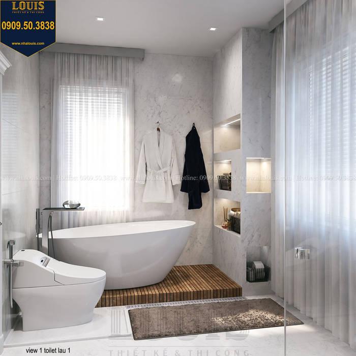 Mẫu trang trí phòng tắm tinh tế, sang trọng bởi Công Ty Thiết Kế Xây Dựng LOUIS