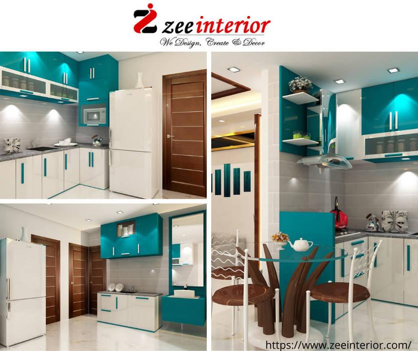 Modular kitchen design by Zee Interior in Patna by Zee interior Modern Plywood