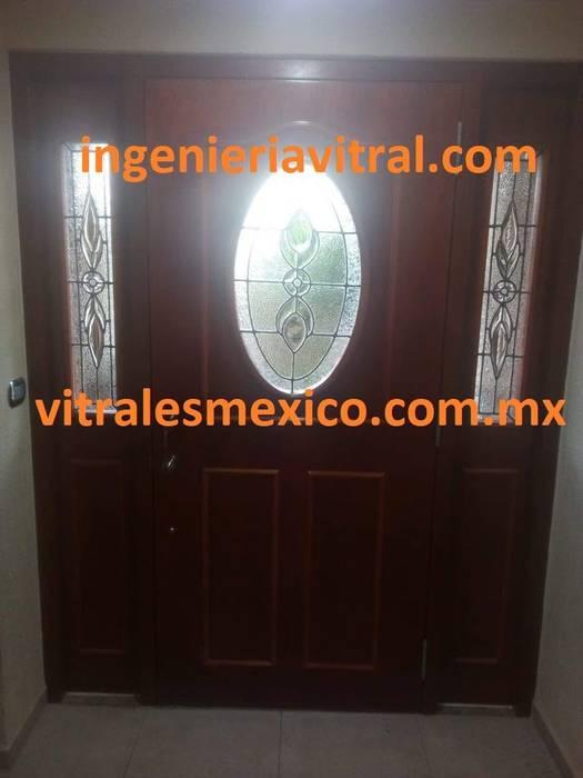 Vitrales para puerta Puertas modernas de Ingeniería Vitral Moderno