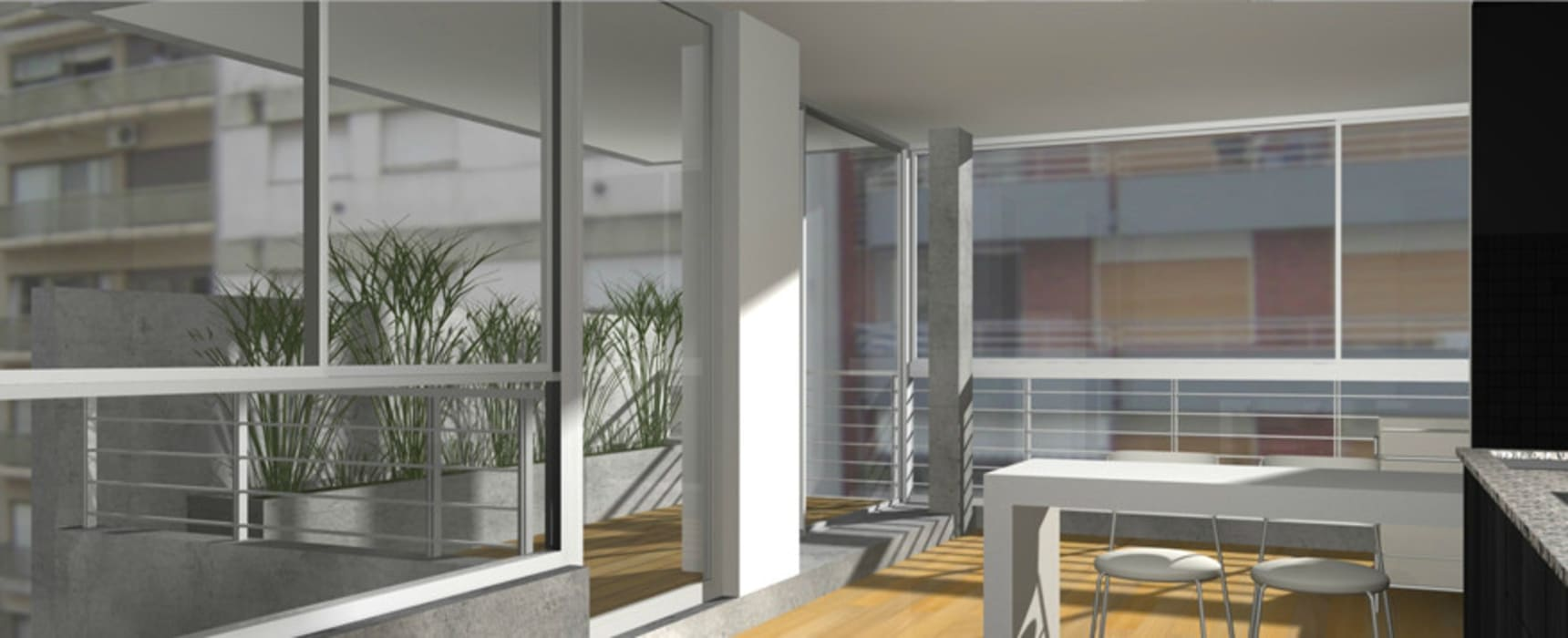 Maisons modernes par atlantico estudio de arquitectura y construccion Moderne Béton