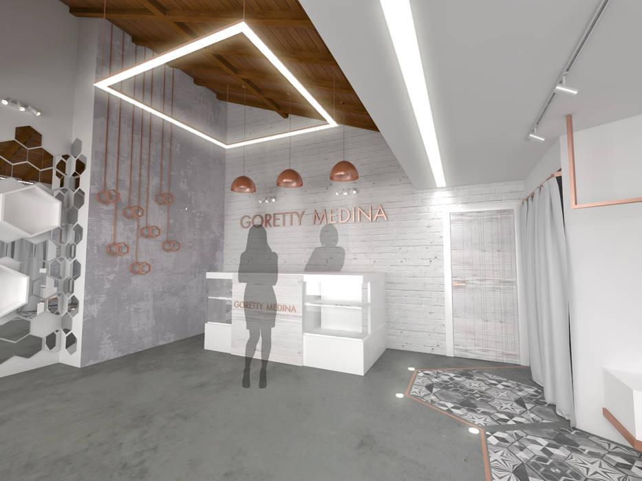 Cares Studio Espaces commerciaux minimalistes Béton Blanc