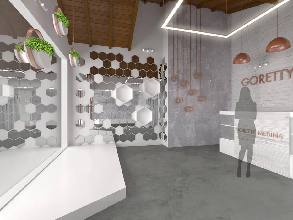 Cares Studio Espaces commerciaux minimalistes Cuivre / Bronze / Laiton Métallisé / Argent