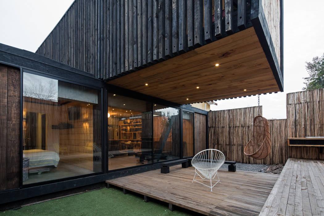 Casa FS Casas de estilo minimalista de Estudio Dikenstein arquitectos Minimalista Madera Acabado en madera