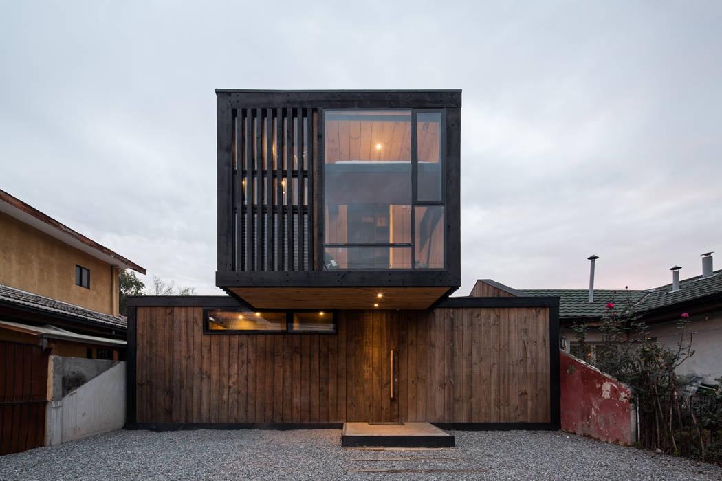 Casa FS Estudio Dikenstein arquitectos Casas de estilo minimalista Madera Acabado en madera