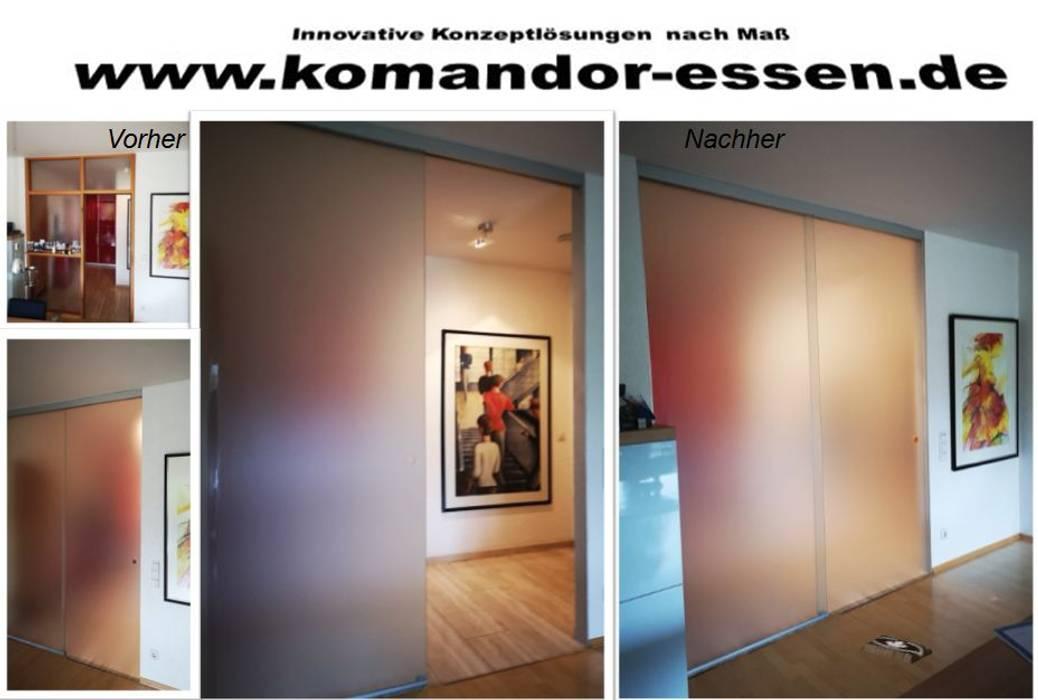 Schiebetüren nach Maß Studio Essen Moderne Wohnzimmer von Komandor Essen Schiebetüren Studio Jarosch Siegfried Modern Glas