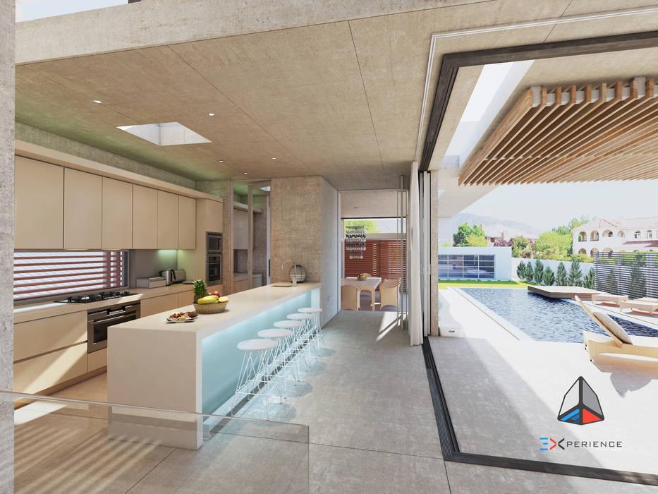 Diseño de interiores. Proyecto alberca. Piscinas de estilo moderno de 3DXperience Moderno Madera Acabado en madera