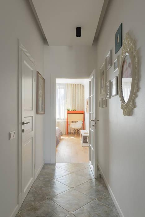 SAZONOVA group Scandinavian style corridor, hallway& stairs