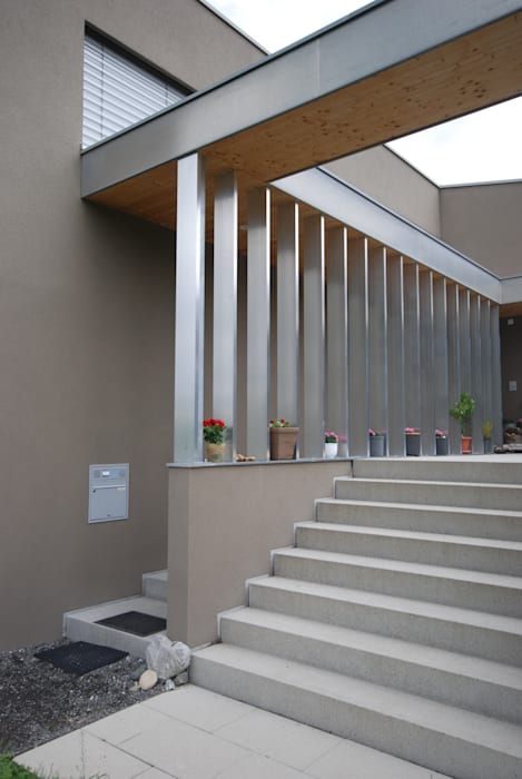 schroetter-lenzi Architekten Single family home Aluminium/Zinc Metallic/Silver