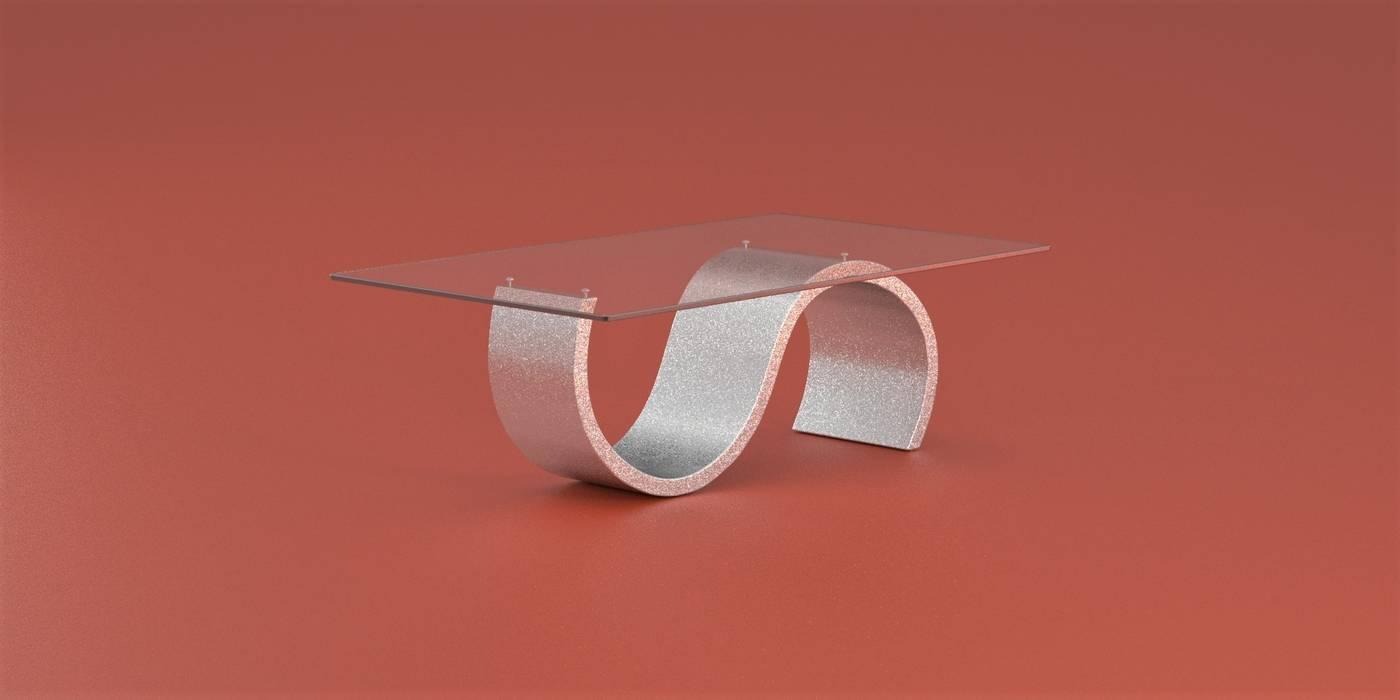 DABLEC di Tiziano Moletta Living roomSide tables & trays Synthetic Metallic/Silver