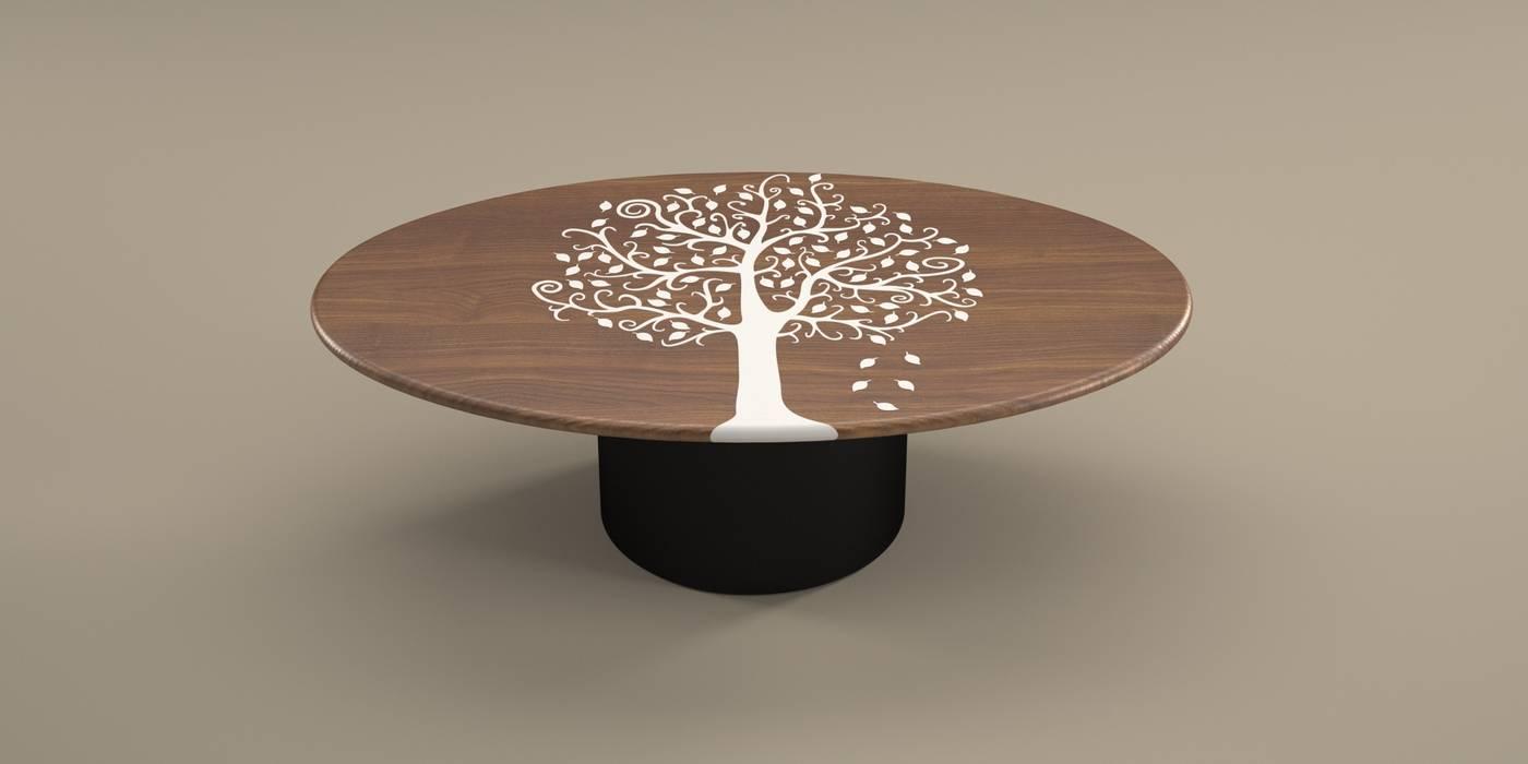DABLEC di Tiziano Moletta Living roomSide tables & trays Synthetic Black