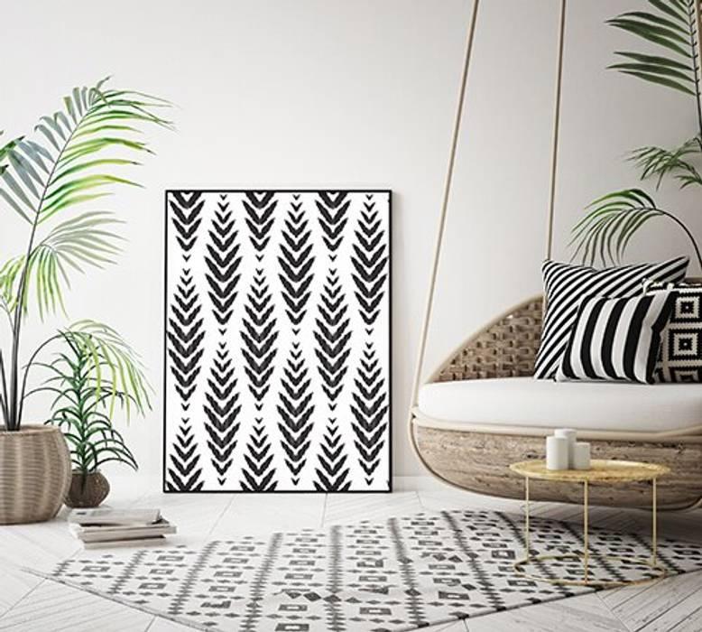 Akustikbilder mit Design Moderne Wohnzimmer von freiraum Akustik Modern