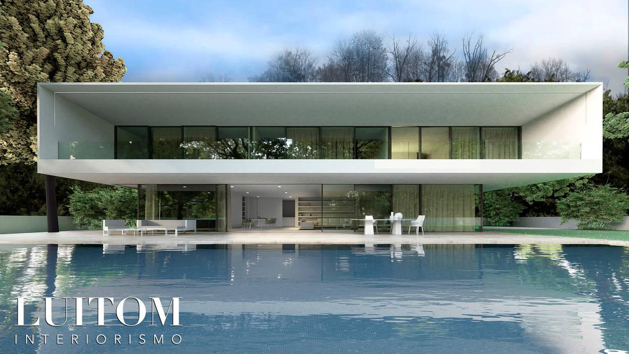 Villa unifamiliar de diseño exclusivo y de lujo en Madrid | Modern house | Luxury house | Casas de estilo moderno de LUITOM INTERIORISMO Moderno Cerámico